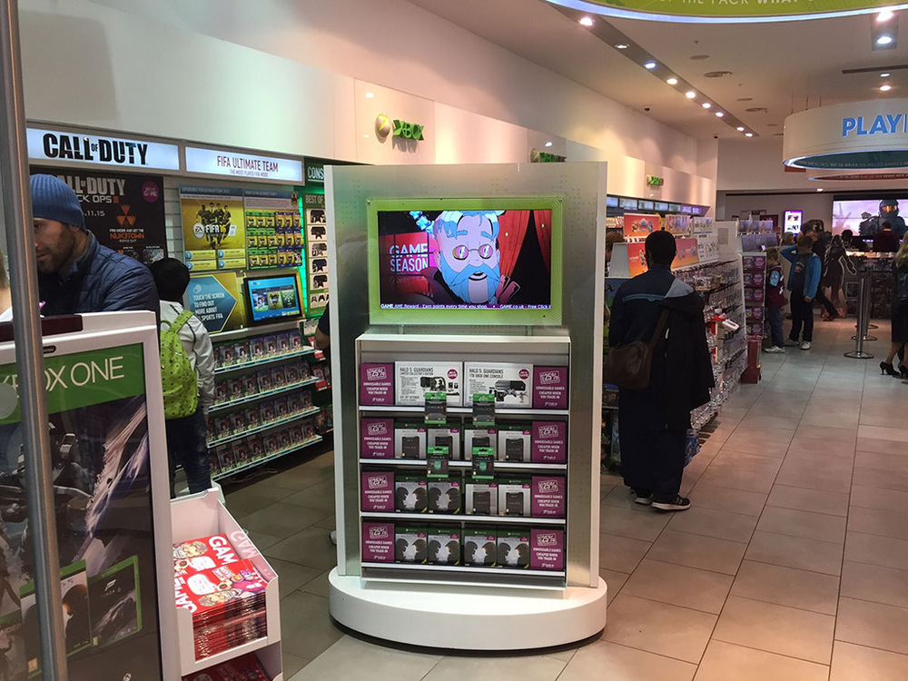Digital Signage Player im Game Store