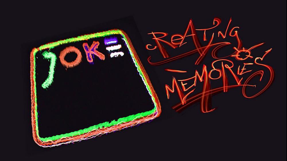Leuchtschrift: Joke - creating memories