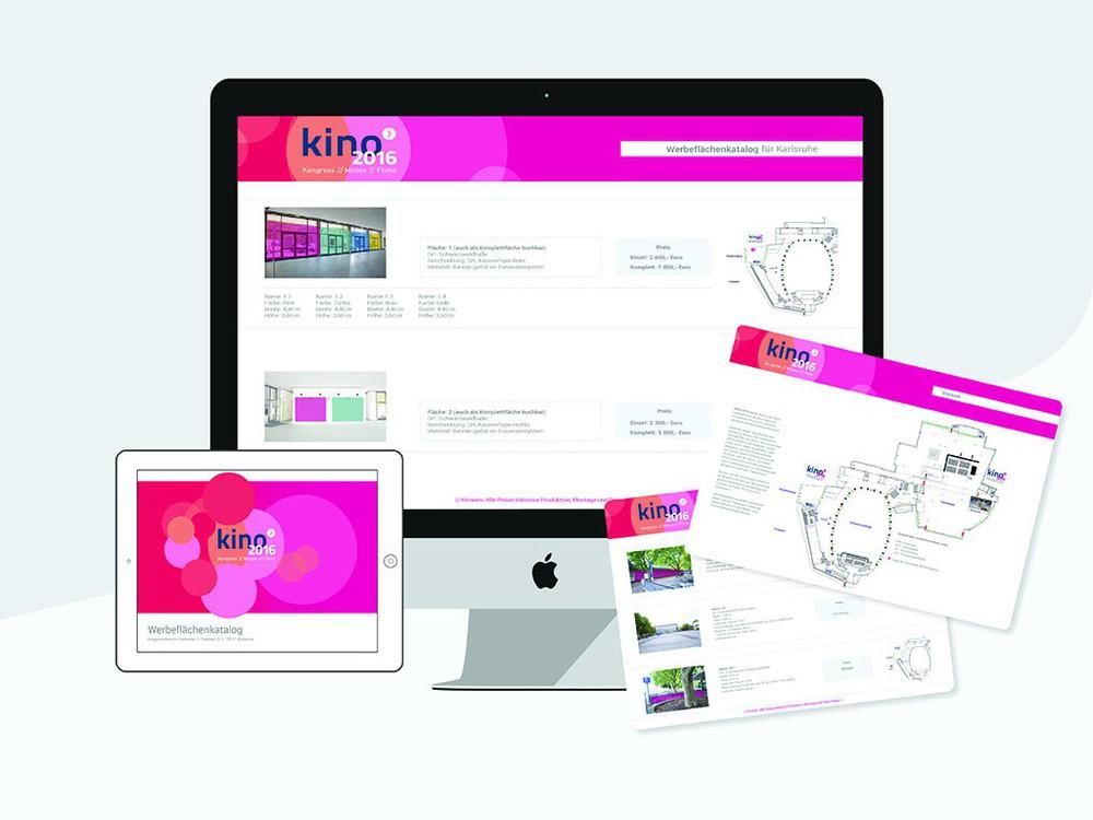 Werbeflächenkatalog von Pink Event Service