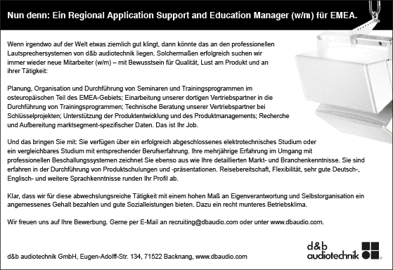 Stellenangebot_Application-Support_and_Eductaion-Manager_db-audiotechnik