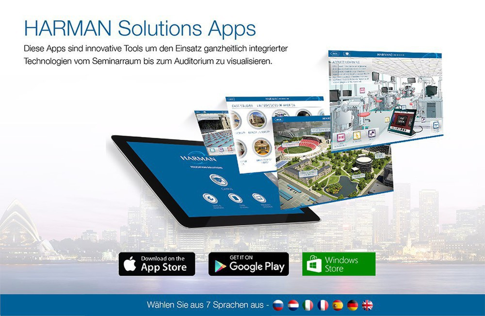 Harman Solutions Apps Werbebanner