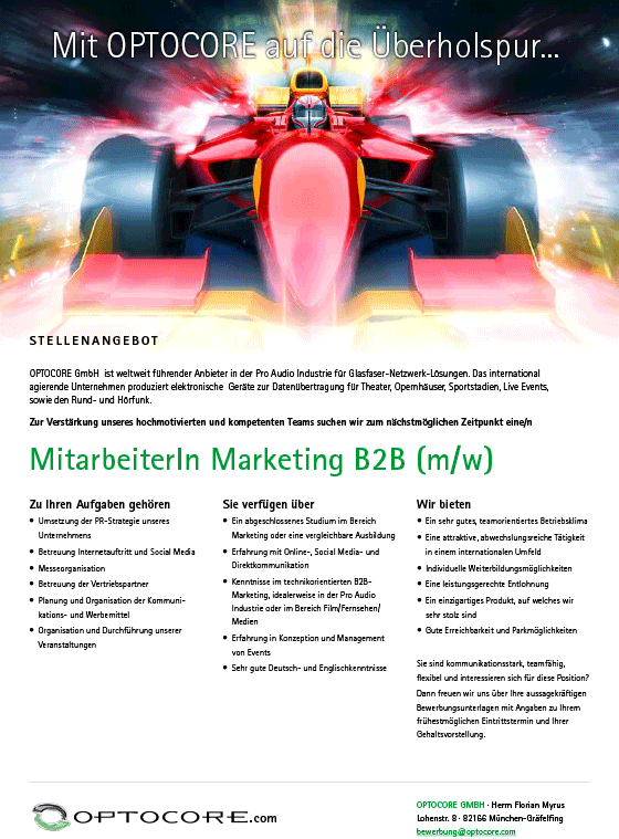 Stellenangebot_Marketing-B2B_Optocore
