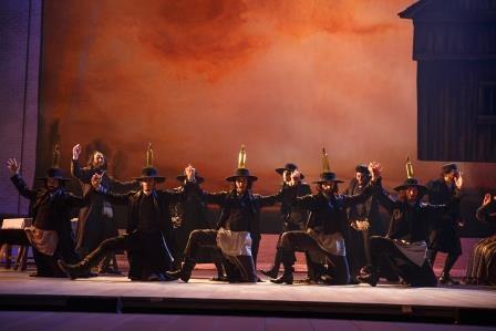 """Bühne beim """"Fiddler on the Roof"""""""