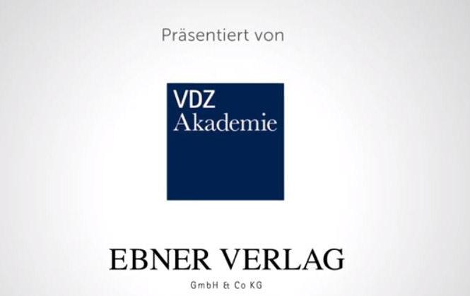 Logos des Ebner Verlags und der VDZ Akademie