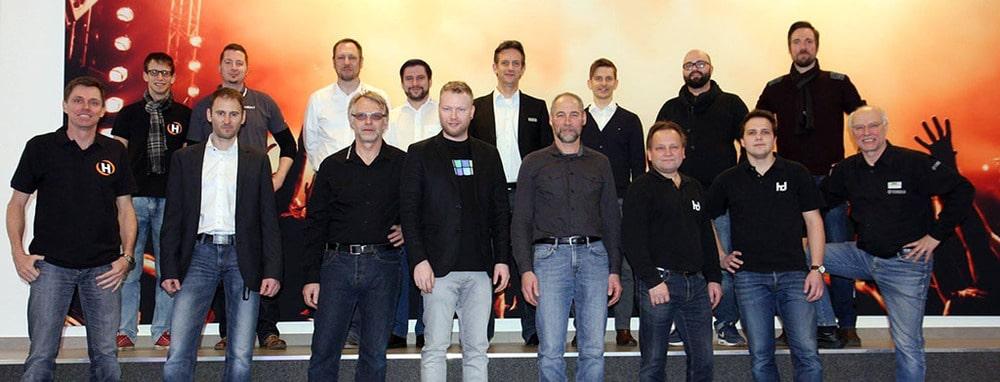 Das Team von Huss Licht & Ton