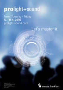 Plakat der Prolight + Sound