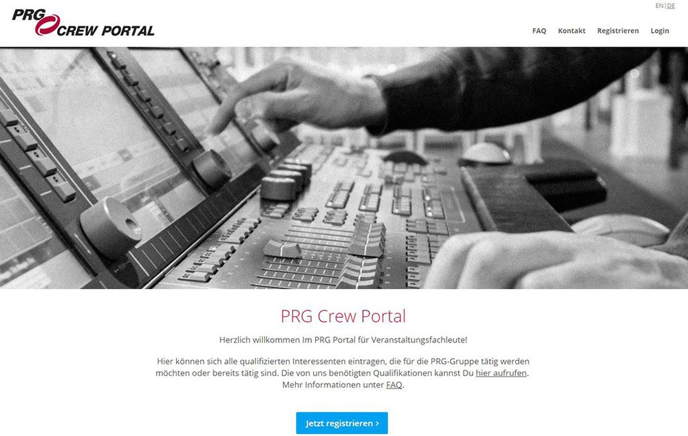PRG Crew Portal