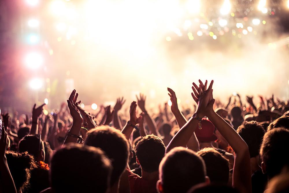 Publikum beim Konzert