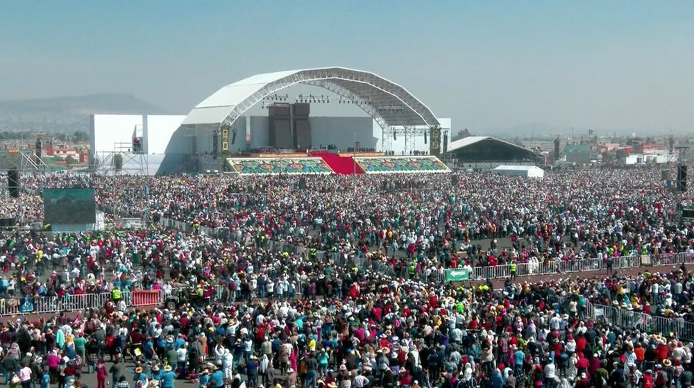 Papst Event in Mexiko