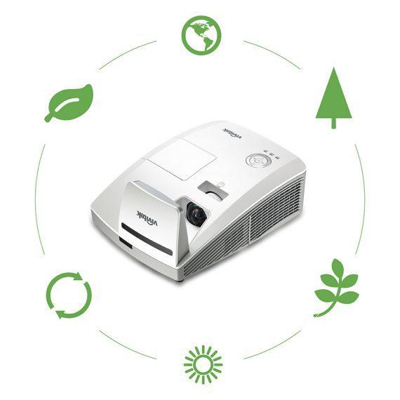 Projektor mit Recycle-Symbolen