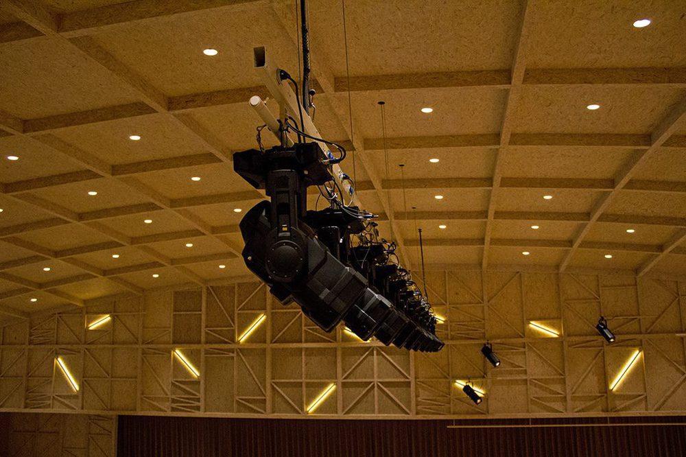 Lichtinstallation in der Rosey Concert Hall