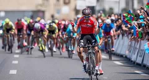 Radrennfahrer bei der Tour d´Azerbaidjan