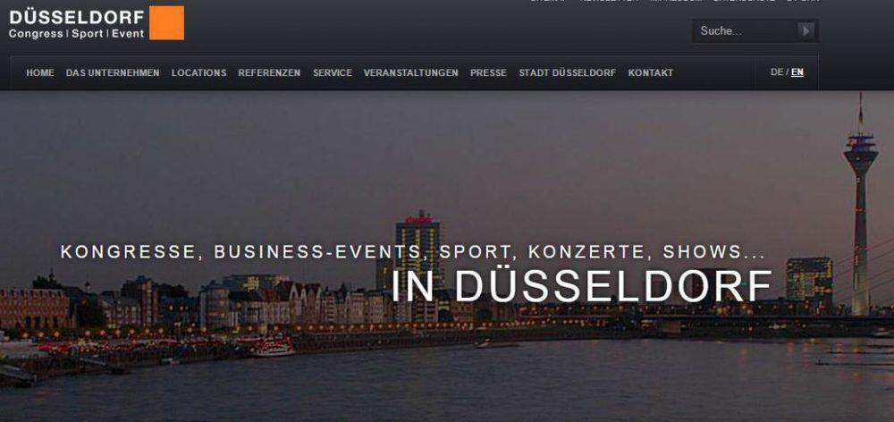 Screenshot der Düsseldorf Congress Website