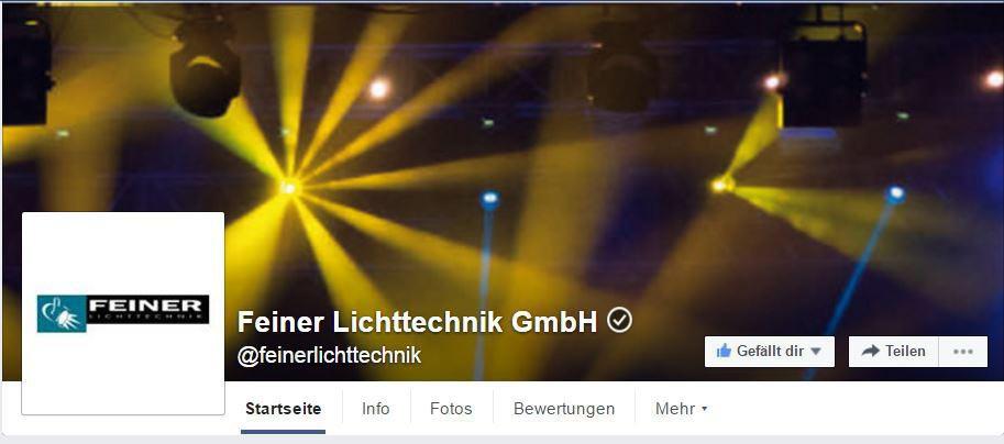 Feiner Lichttechnik bei Facebook