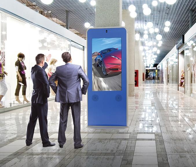 Gewölbte Kioske für den Innenbereich von Peerless-AV