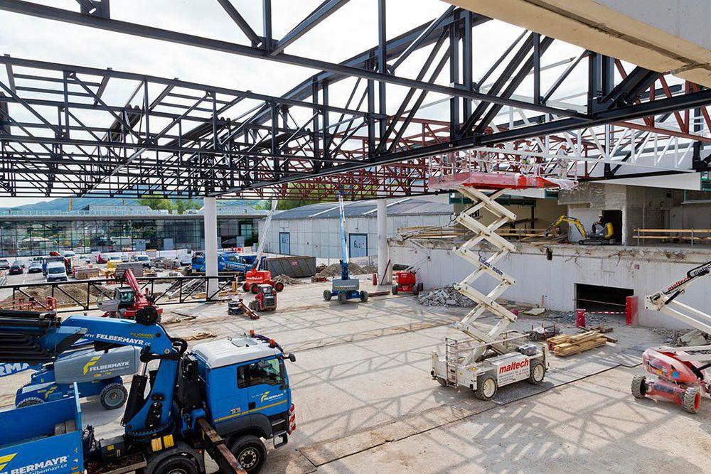 Baustelle in Halle 1