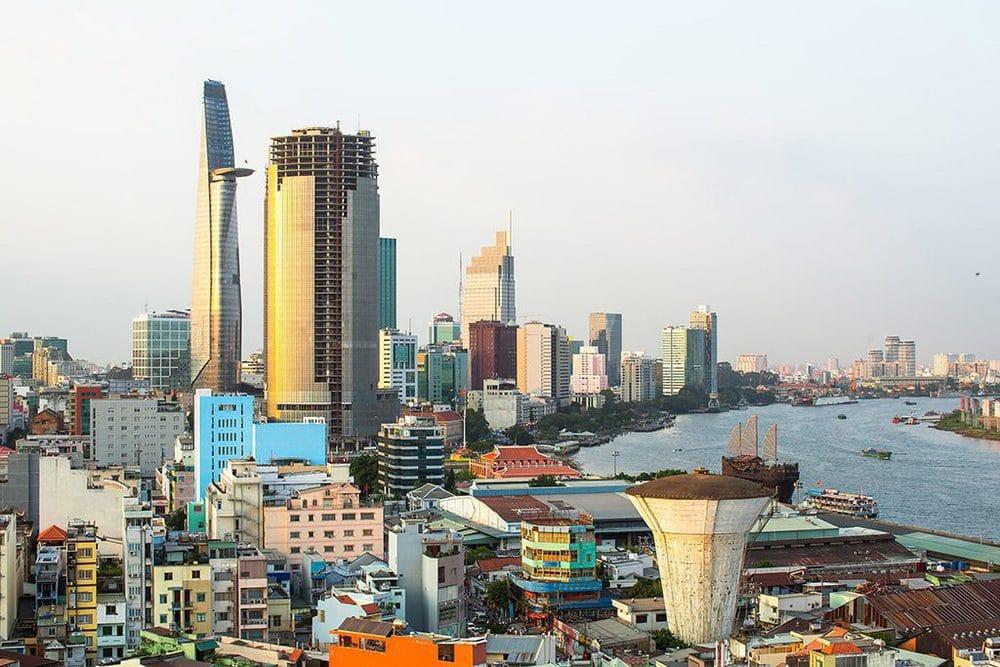 Blick auf die Küste von Vietnam