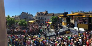Podium Protocollaire bei der Tour de France