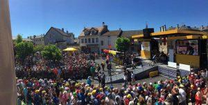Podium Protocollaire bei der Tour de France