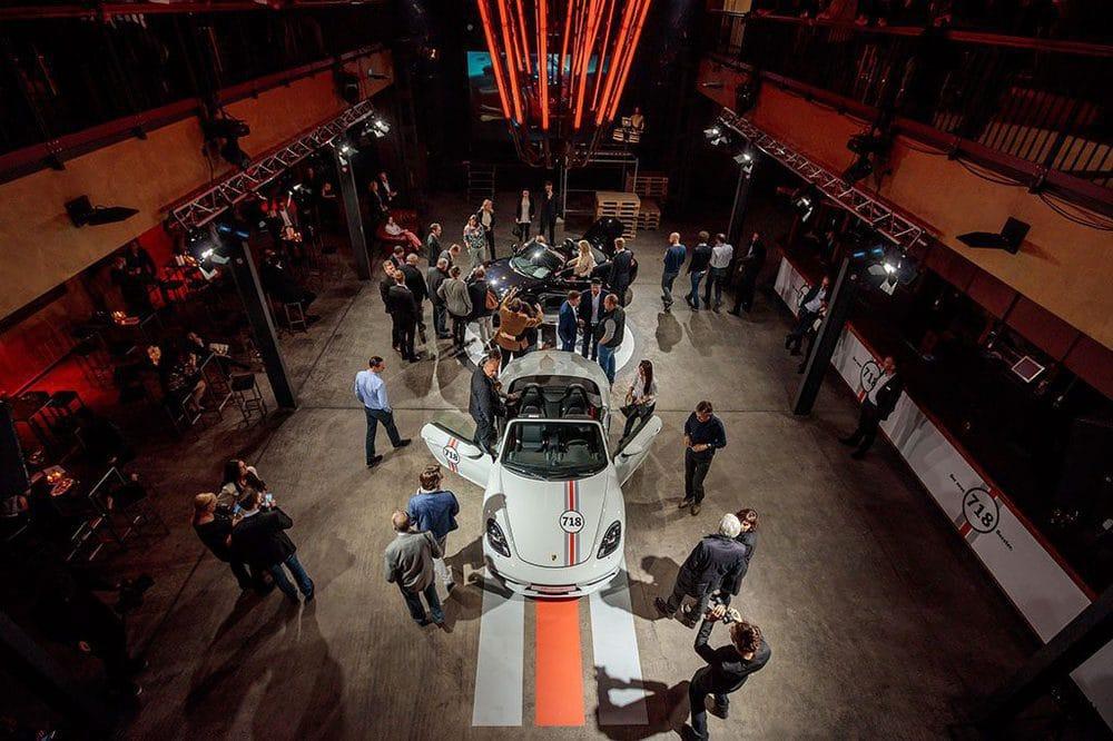 Präsentation des neuen Porsche 718 am 28.4.2016 im Täubchenthal in Leipzig