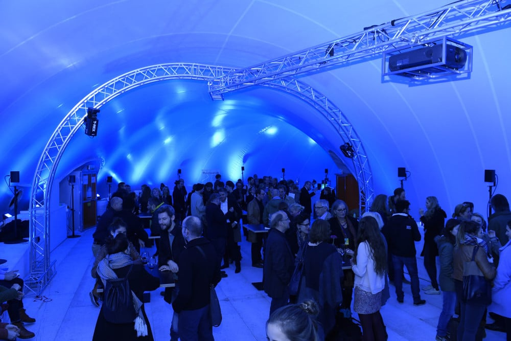 Pavillon der Raumwelten 2015 von innen