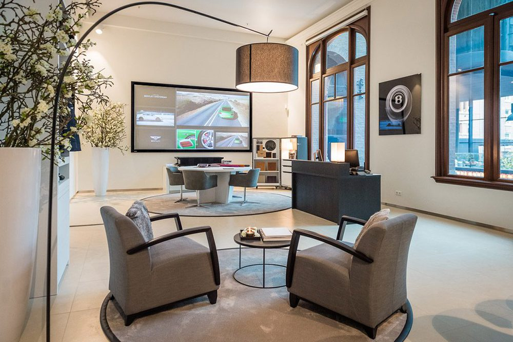 Sony 4K-Laserprojektion bei Bentley Amsterdam
