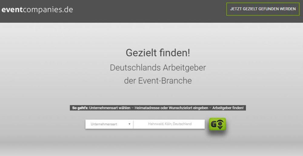 Screenshot von eventcompanies.de
