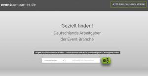 Screenshot von eventcompanies.de