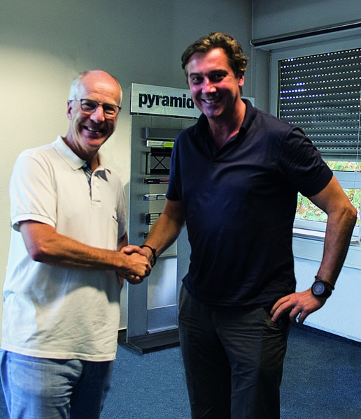 Frieder Hansen, CEO bei Pyramid Computer und Thomas-Peter Fischer, CEO der Jumptomorrow.