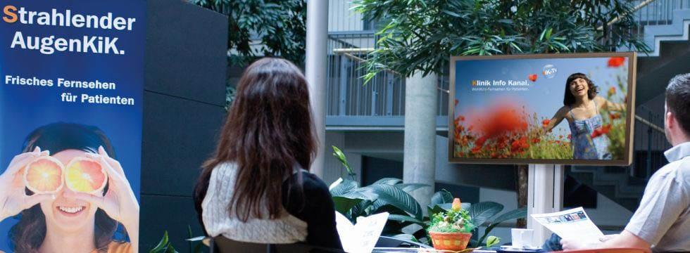 KIK Infokanal im Foyer