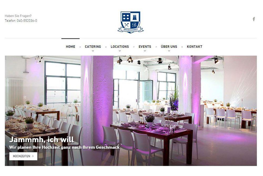 Screenshot Brunckhorst Catering