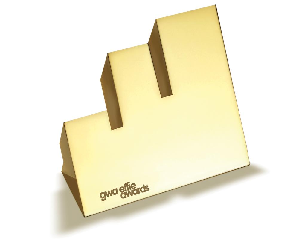 GWA Effie Trophäe Gold