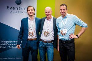 EvenTech Alliance Partner (v.l.): Prof. Dr. Ziegler, Xing Events, Dr. Matthias Jöst, HDM-I, Richard Caelius, Eventbase