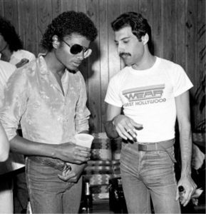 Michael Jackson und Freddie Mercury, Los Angeles, 1980