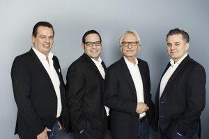 PP Live Management (v.l.): Patrick Birkenfeld (Prokurist), Christoph Symeonidis (Prokurist), Bernd Nagel (CEO), Thorsten Radtke (Managing Director)