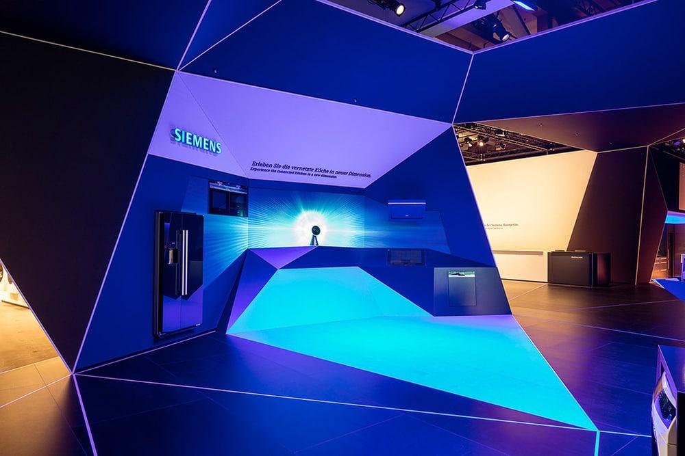 Siemens Messeauftritt auf der IFA, gestaltet von Schmidhuber