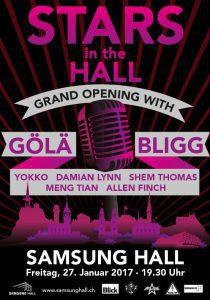 Eröffnungsbanner der Samsung Hall