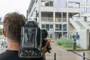 Kameramann von hinten