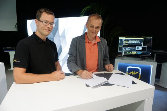 Tobias Stumpfl CEO AV Stumpfl und Hubertus Beckmann Technical Director LANG AG