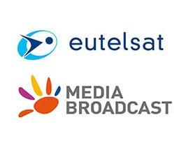Logos: Media Broadcast und EutelSat