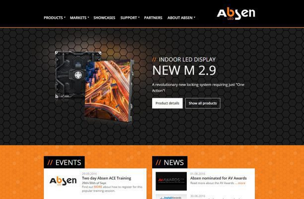 Absens neue europäische Website