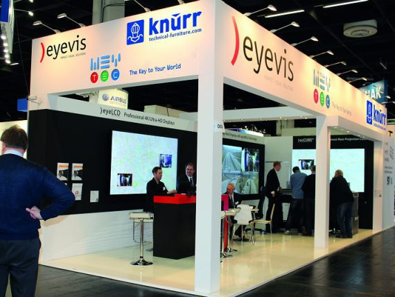 Eyevis Messestand