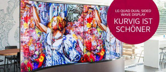LG Quad Dual Sided Wave Display