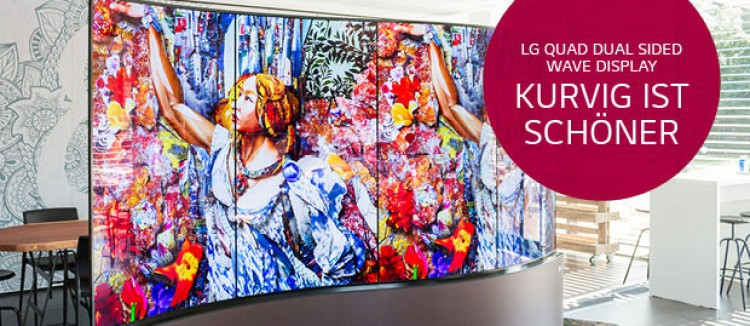 LG Quad Dual Sided Wave Display