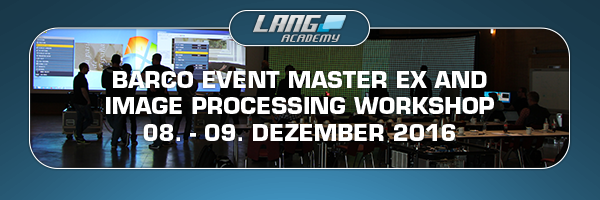 Barco Event Master Workshop