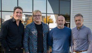 v.l.n.r.: Hervé Guillaume, Geschäftsführer L-Group; Reiner Sassmann, Geschäftsführer CAMCO; Joachim Stoecker, Geschäftsführer CAMCO; Christian Heil, Gründer und Präsident der L-Group
