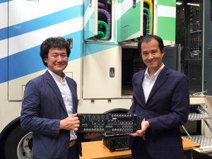 Mr. Otomi, CEO Express Co, Ltd mit Toshiki Kawakita, Riedel Sales Manager Japan