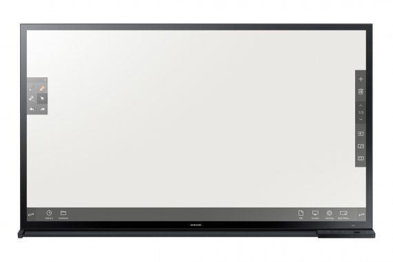 Das Samsung Smart Signage e-Board DM65E-BC verfügt über einen neuartigen kapazitiven Touchscreen mit schneller Reaktionszeit.
