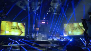 Das Ground Control Followspot System beim Deutschen Radiopreis.