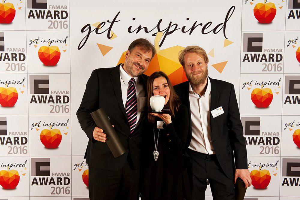 Insglück gewinnt den weißen Apfel beim Famab Award